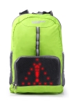 Hi-tech  Rucksack SERIE SAFTY mit LED Display grün