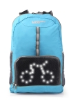 Hi-tech  Rucksack SERIE SAFTY mit LED Display blau