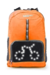 Hi-tech  Rucksack SERIE SAFTY mit LED Display orange